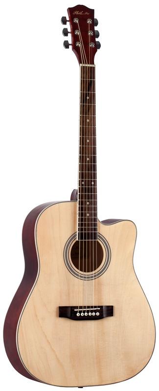 Акустическая гитара PHIL PRO PHIL PRO AS-4104/N - акустическая гитара, phm4104N, бежевый