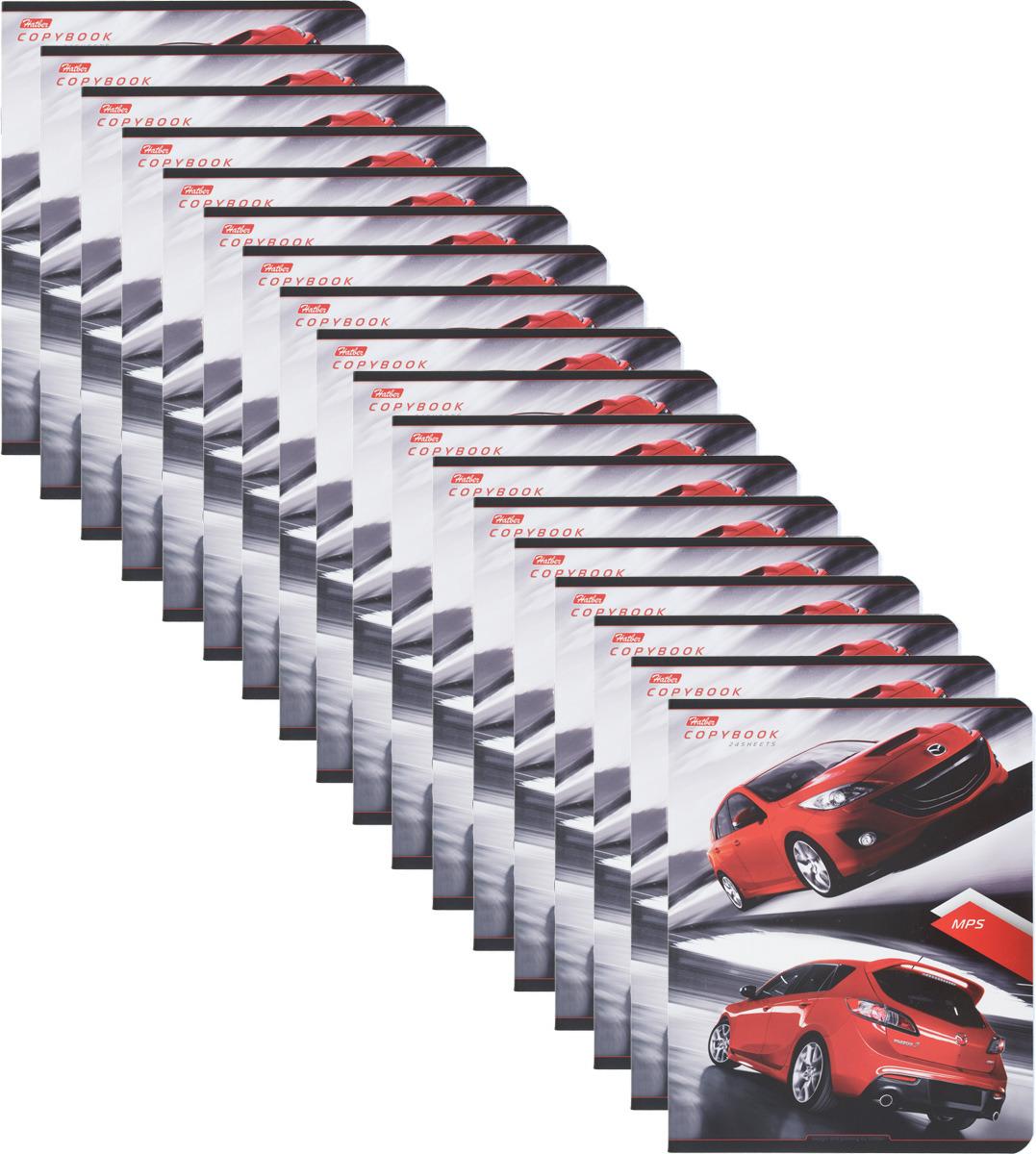 Набор тетрадей Hatber Автомобили, 24Т5B1, разноцветный, A5, 24 листа в клетку, 18 шт набор тетрадей альт а5 24л 5шт в наборе клетка тисн фольгой блестки телки метелки