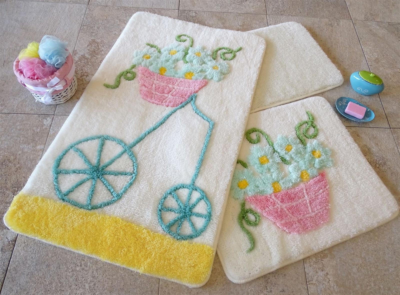 Набор ковриков для ванной DO&CO Коврик для ванной ALACATI_желтый, Акрил коврик для ванной с рисунком clarisse 700 г м²