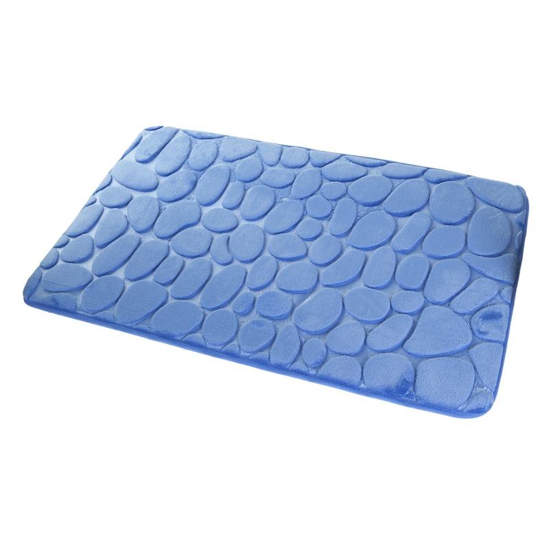 """Коврик для ванной Aquarius Коврик для ванной 50х80см. Камушки 3D, 59486, синий59486Мягкий, удобный коврик для ванной комнаты, легко чистится, стирается в машине при t не более 30 градусов, не скользит. Возможно применение на """"теплых полах"""""""