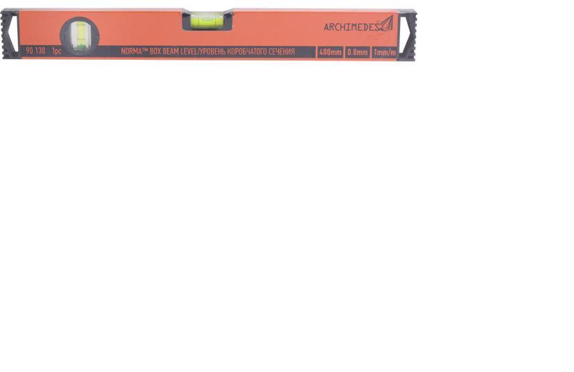 Уровень строительный archimedes 90130 Коробчатый уровень 400 мм, 90130