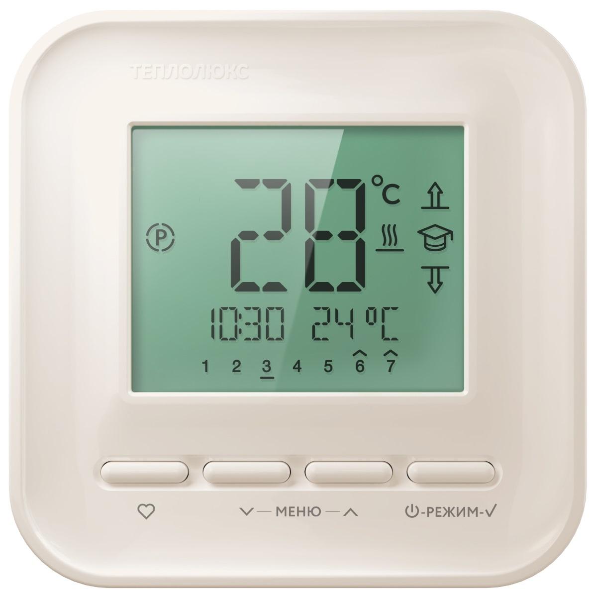 Регулятор теплого пола Теплолюкс ТР515, кремовый теплолюкс тр 515