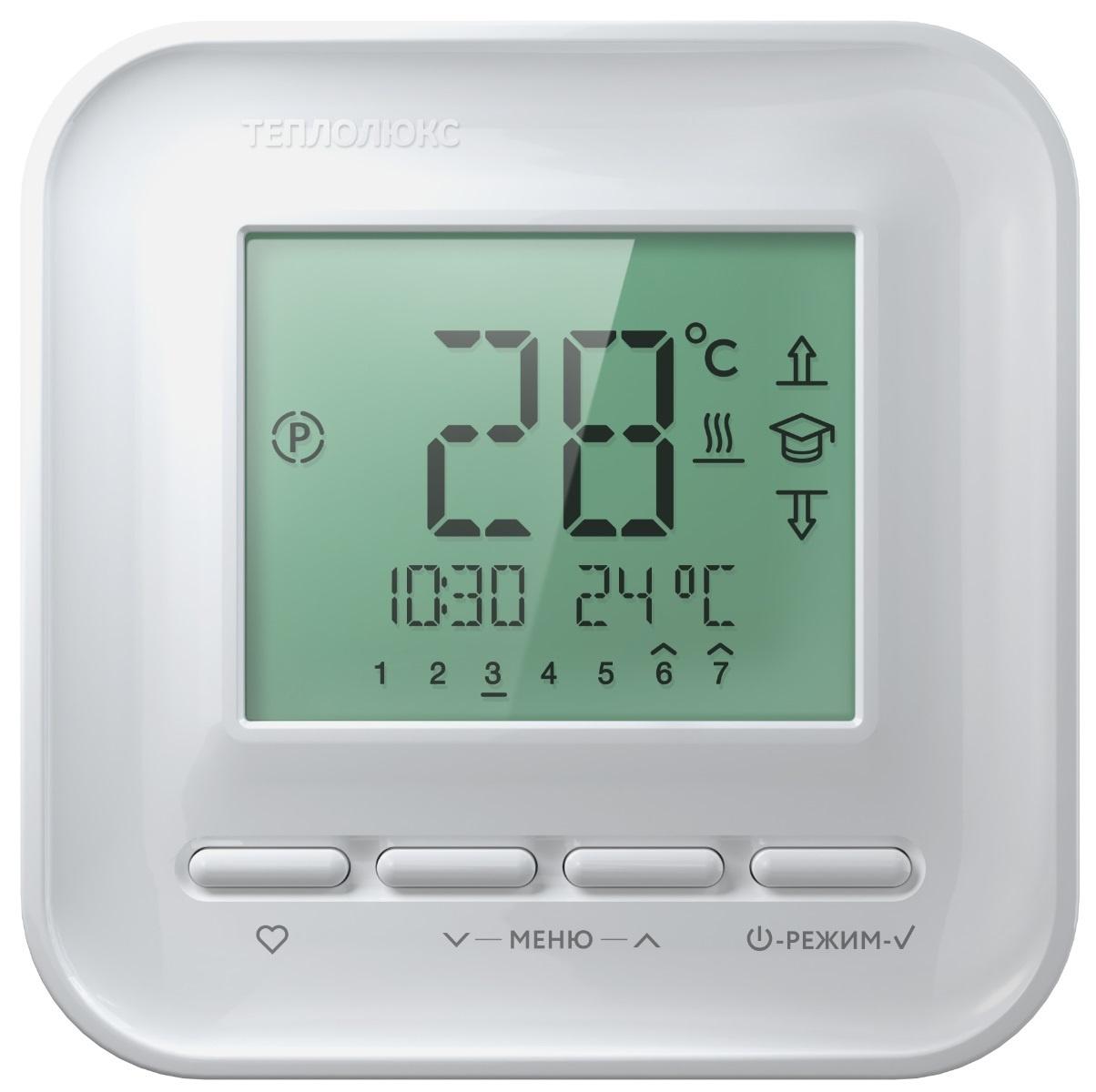Регулятор теплого пола Теплолюкс ТР515, белый теплолюкс тр 515