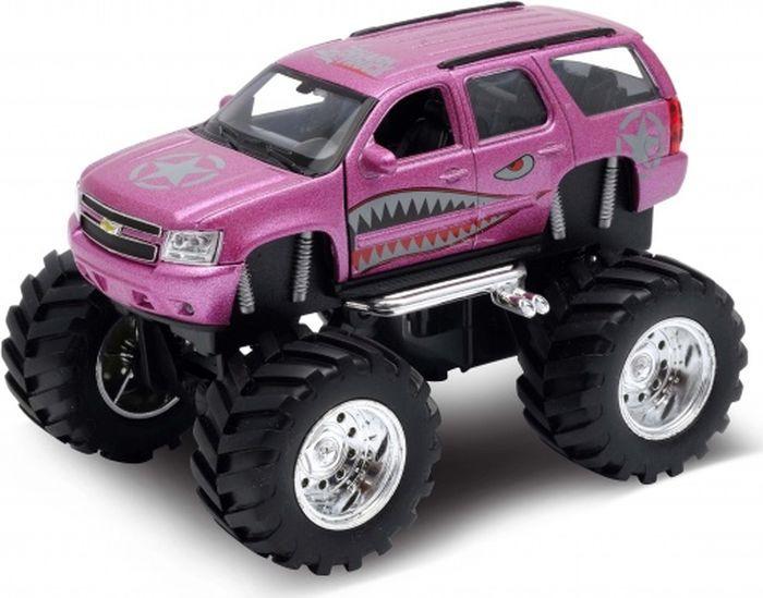 Фото - Машинка Welly Chevrolet Tahoe Big Wheel Monster, 47002S игрушка модель машины 1 34 39 chevrolet tahoe big wheel monster