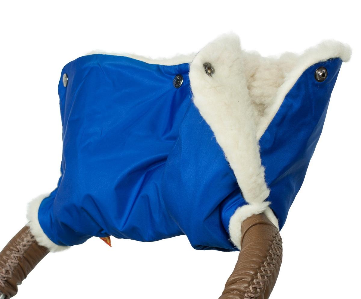 Аксессуар для колясок Чудо-чадо Муфта для рук на коляску меховая Классика, МКМ06-000 синий аксессуары для колясок и автокресел виталфарм муфта для рук на коляску