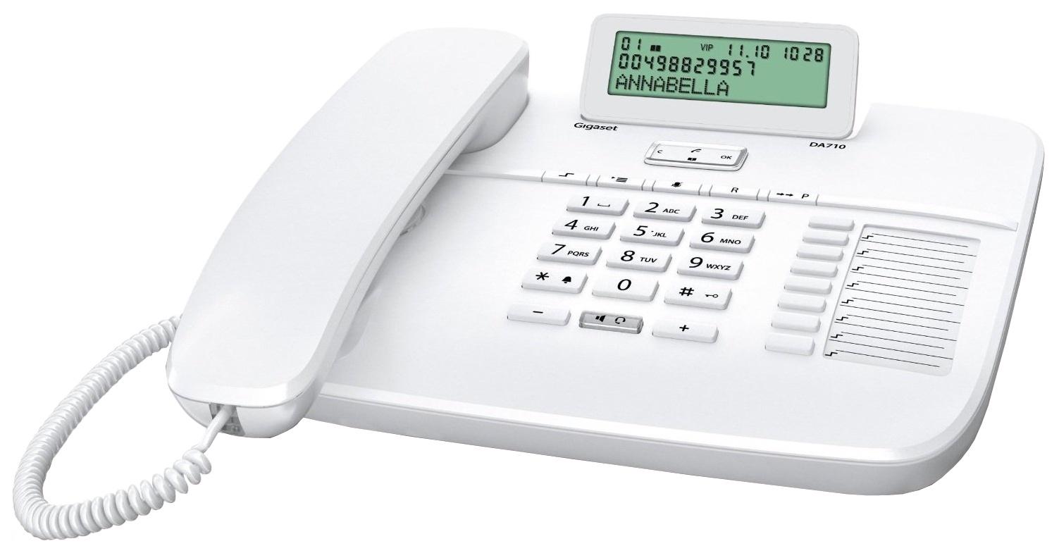 Телефон Gigaset DA 710 RUS White, S30350-S213-S302, белый