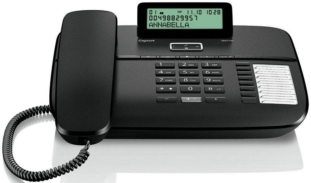 Телефон Gigaset DA 710 RUS Black, S30350-S213-S301, черный