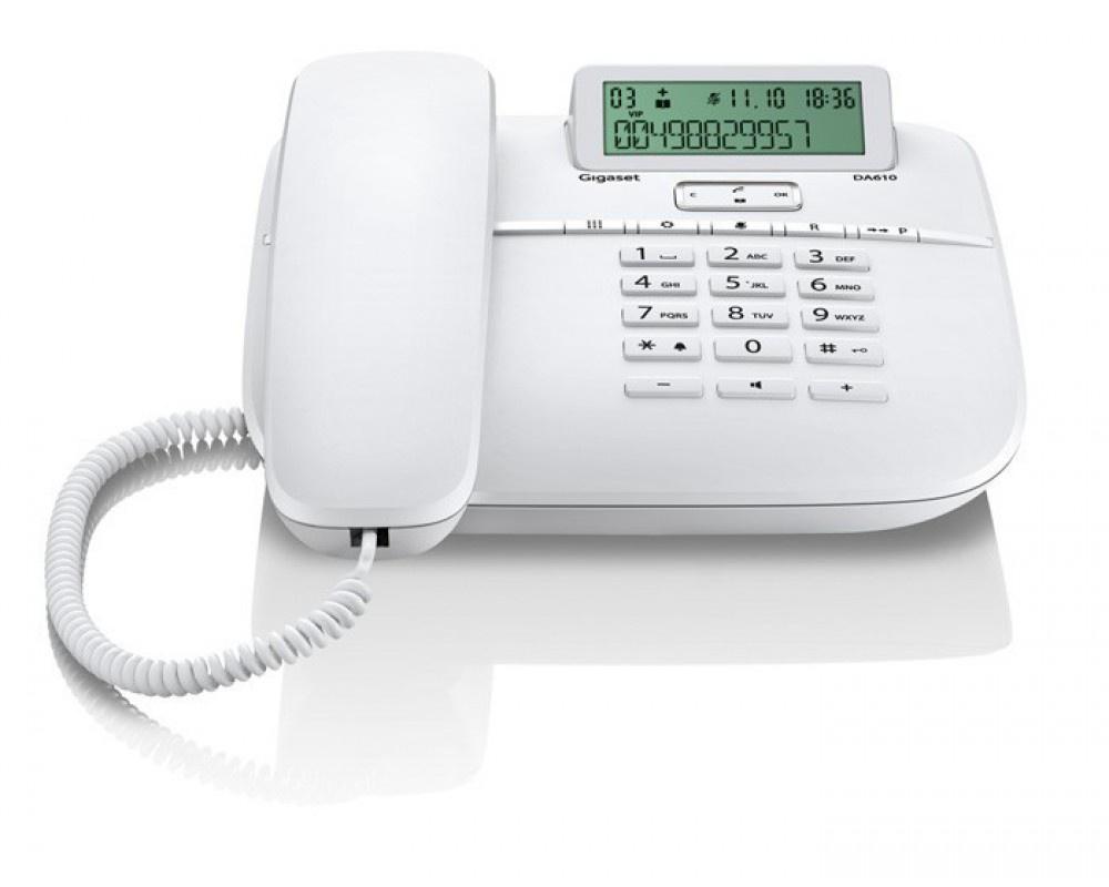 Телефон Gigaset DA 610 RUS White, S30350-S212-S302, белый