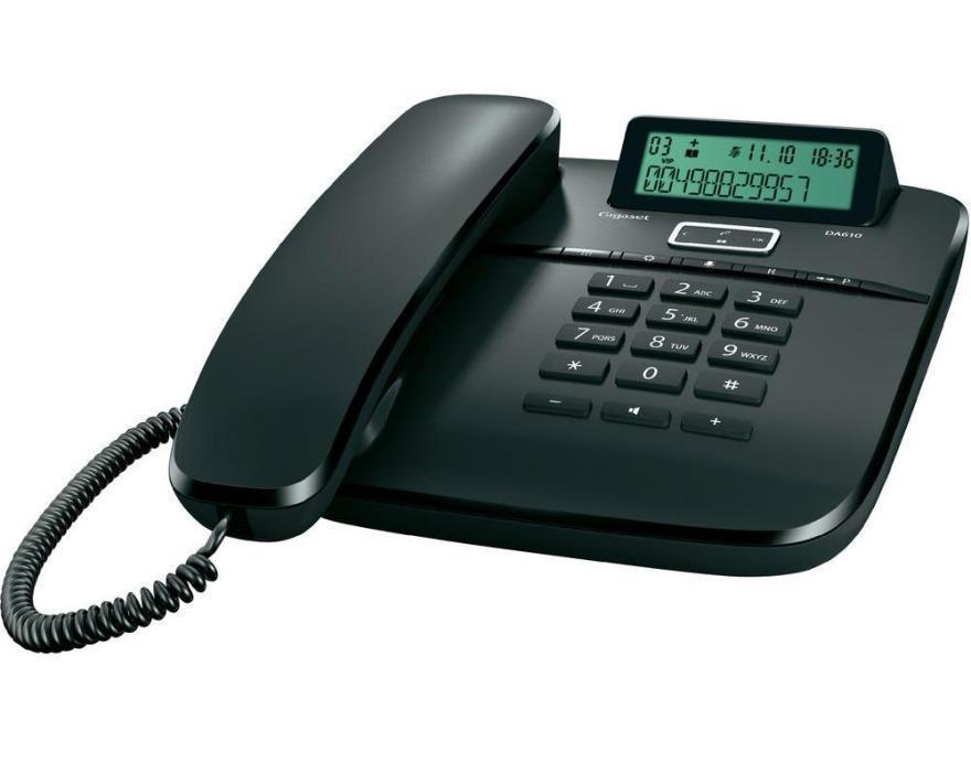 Телефон Gigaset DA 610 RUS Black, S30350-S212-S301, черный