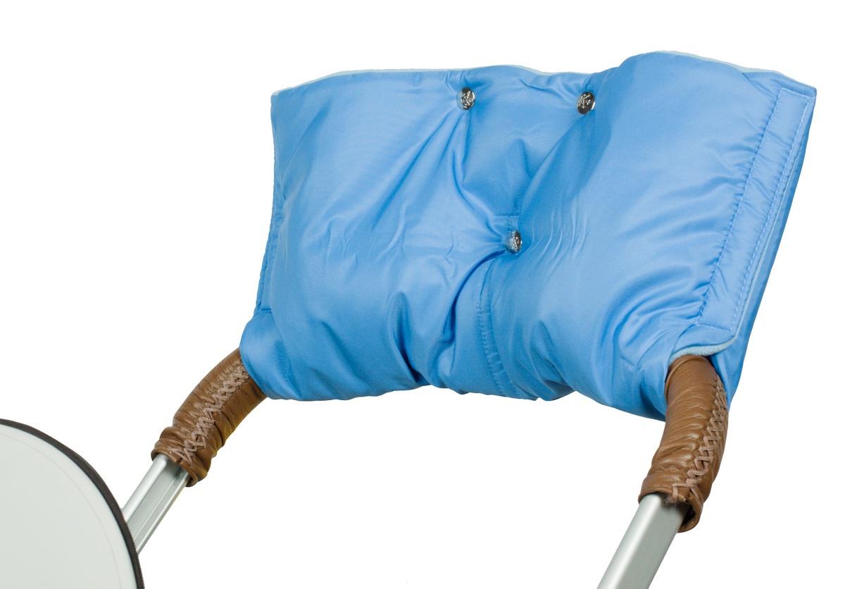 Аксессуар для колясок Чудо-Чадо Муфта для рук на коляску флисовая (на липучке), МКФ05-001 голубой аксессуары для колясок и автокресел виталфарм муфта для рук на коляску