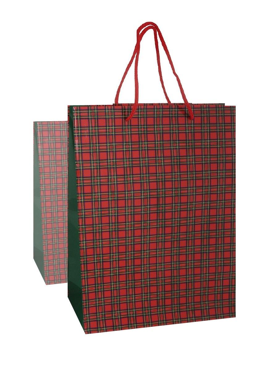 Подарочная упаковка Правила Успеха Набор из 2шт, пакет подарочный Шотландка 25*35*9 см, 4610009216256, коричнево-красный пакет подарочный бумажный s1511 с днем рождения 3 вида 32x26x13 см в ассортименте