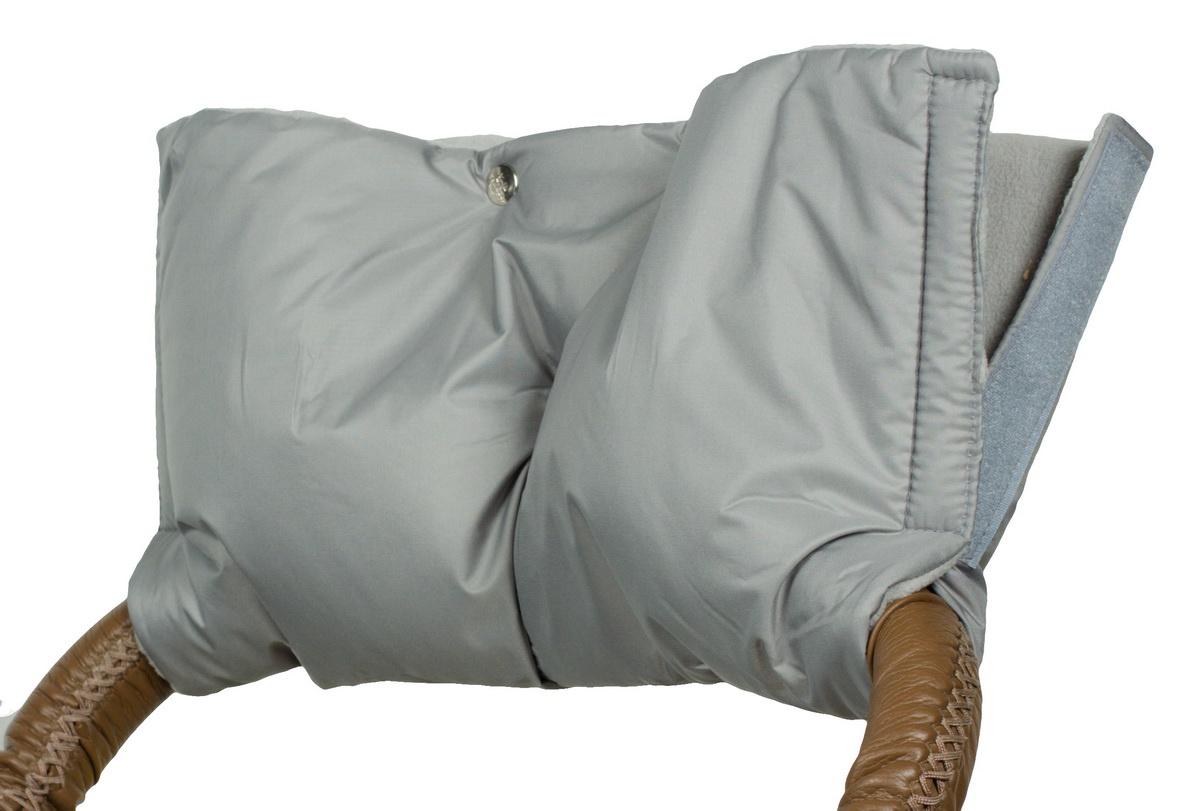 Аксессуар для колясок Чудо-Чадо Муфта для рук на коляску флисовая (на липучке), МКФ03-001 серый муфта tigger warmhands на ручку коляски