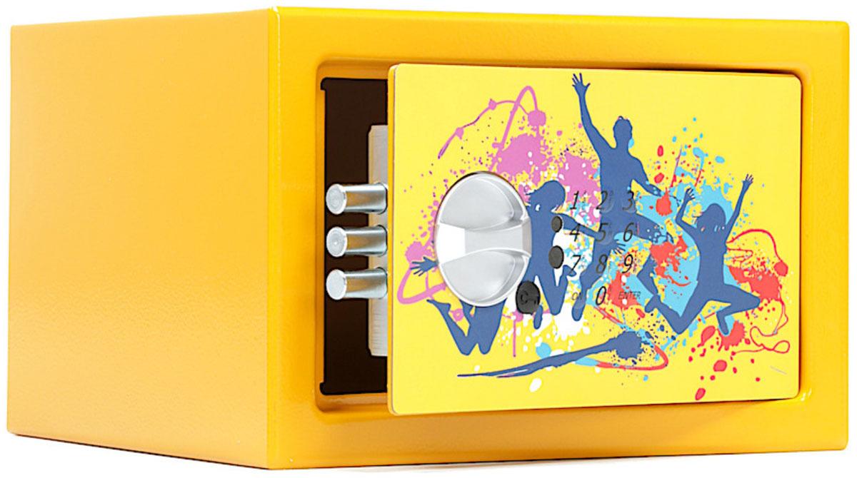Сейф Aiko T-170 EL Dance, S10399290261, желтый, 17 х 26 х 23 см