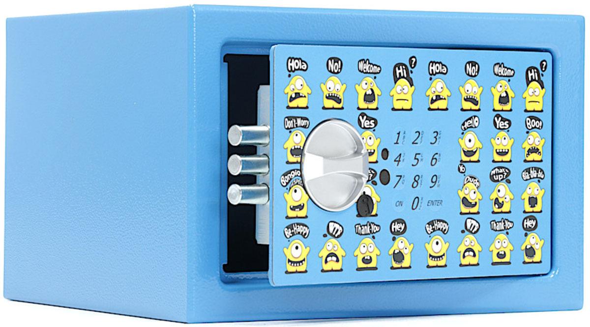 Сейф Aiko T-170 EL Smile, S10399290262, синий, 17 х 26 х 23 см