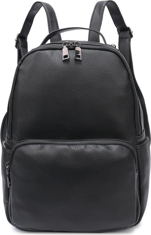 Рюкзак женский OrsOro, DS-934/1, черныйDS-934/1Рюкзак с одним отделением на молнии, внутренний карман на молнии, карман для телефона. Внешний объёмный карман на молнии, два боковых кармана, карман на молнии на задней стенке.