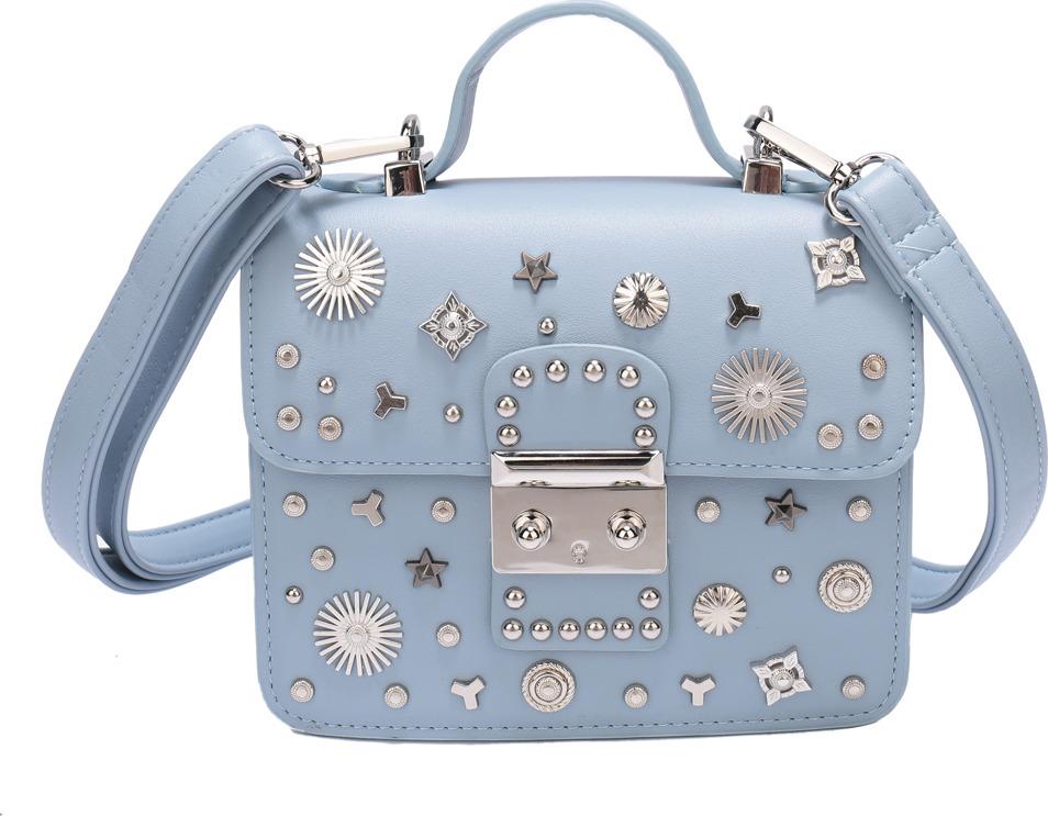 Сумка женская OrsOro, DS-903/3, серо-голубойDS-903/3Сумка с одним отделением на замочке, внутри карман на молнии, карман для телефона, регулируемый плечевой ремень