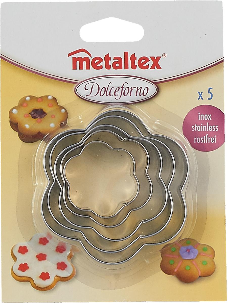 Набор форм для печенья Metaltex Цветок, 25.23.77, 5 предметов набор форм для выпечки metaltex 6 шт 25 91 24
