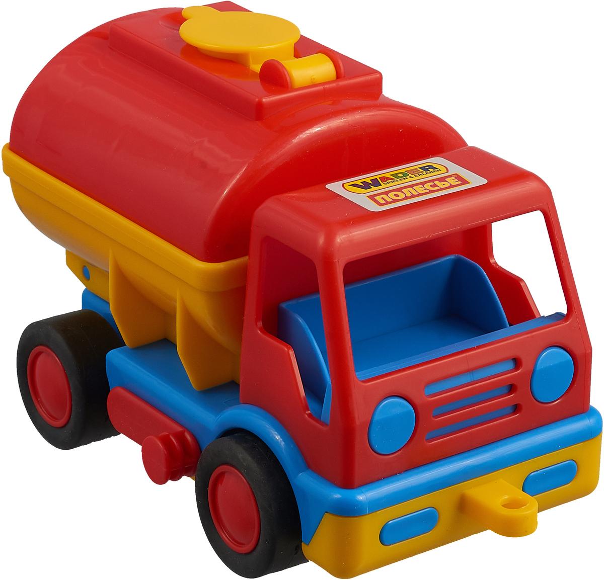 Фото - Бензовоз Полесье Базик, цвет в ассортименте полесье набор игрушек для песочницы 468 цвет в ассортименте