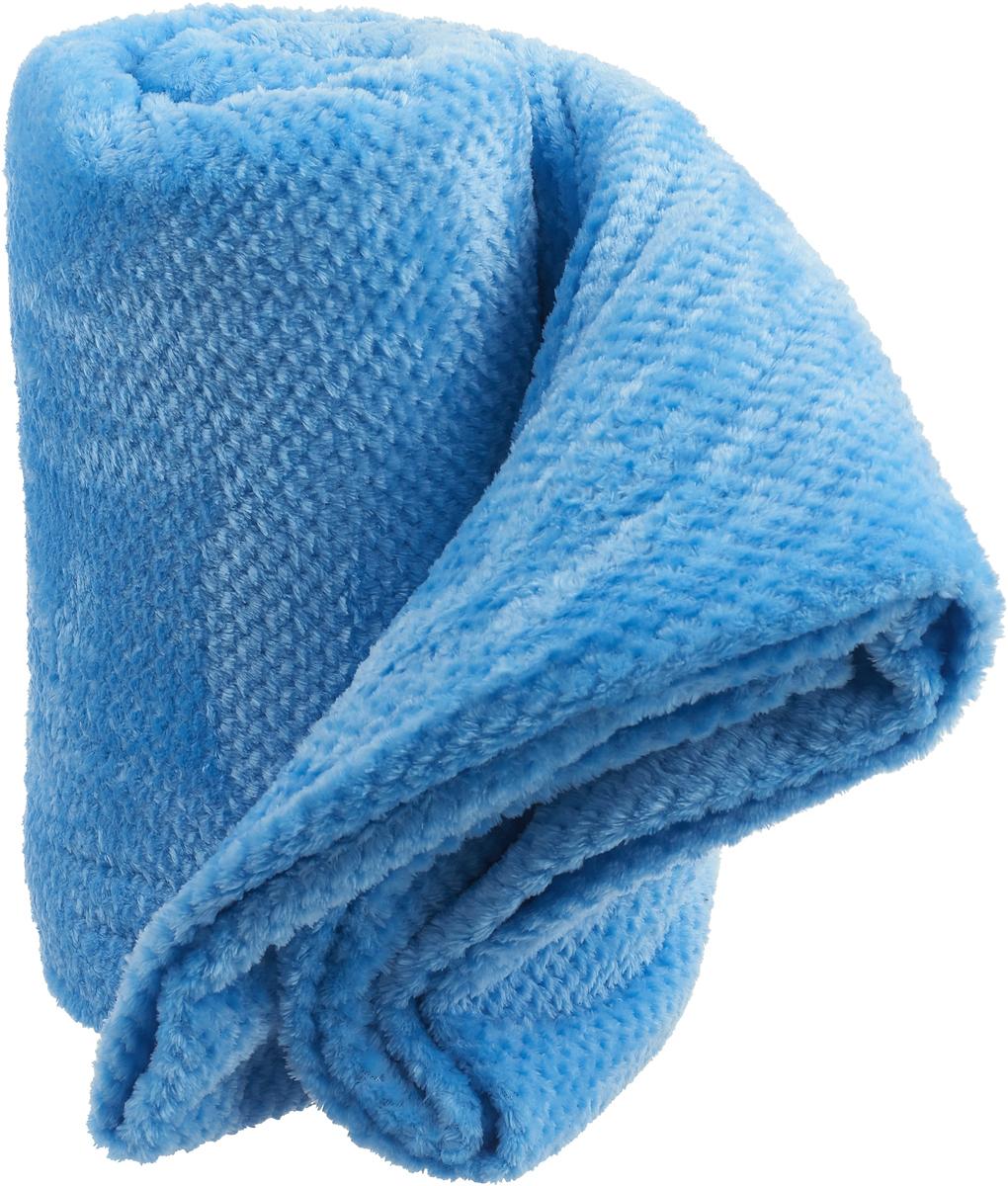 """Плед-покрывало Guten Morgen """"Деним"""", цвет: голубой, 200 х 220 см"""