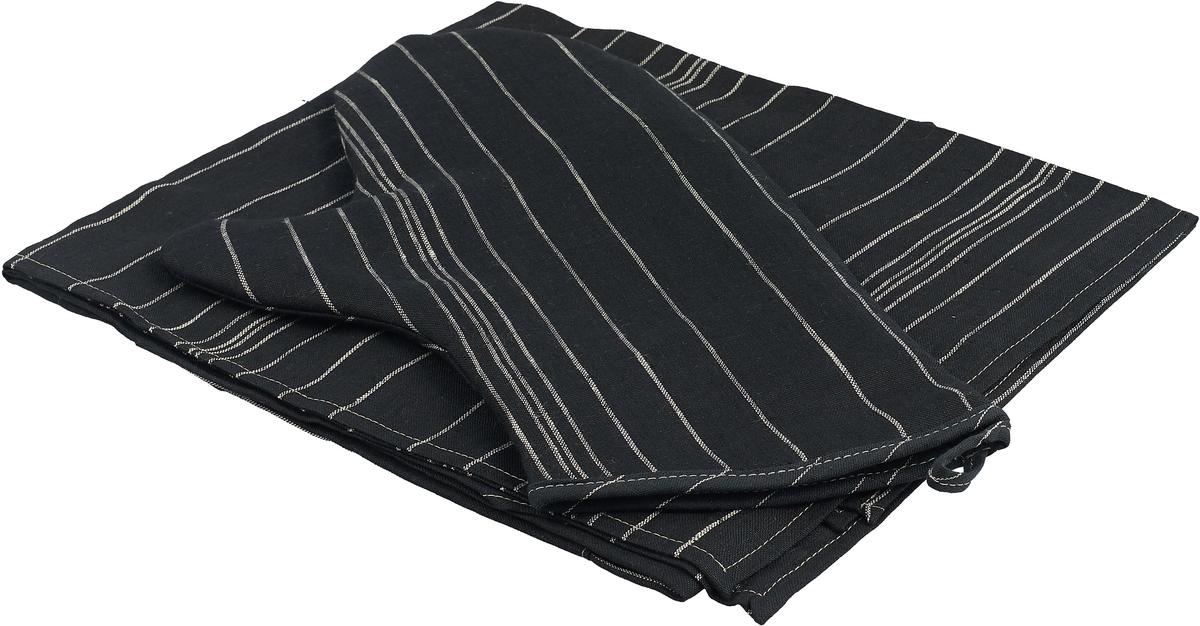 Набор кухонный Гаврилов-Ямский Лен, 709, черный, 3 предмета capri одежда из льна