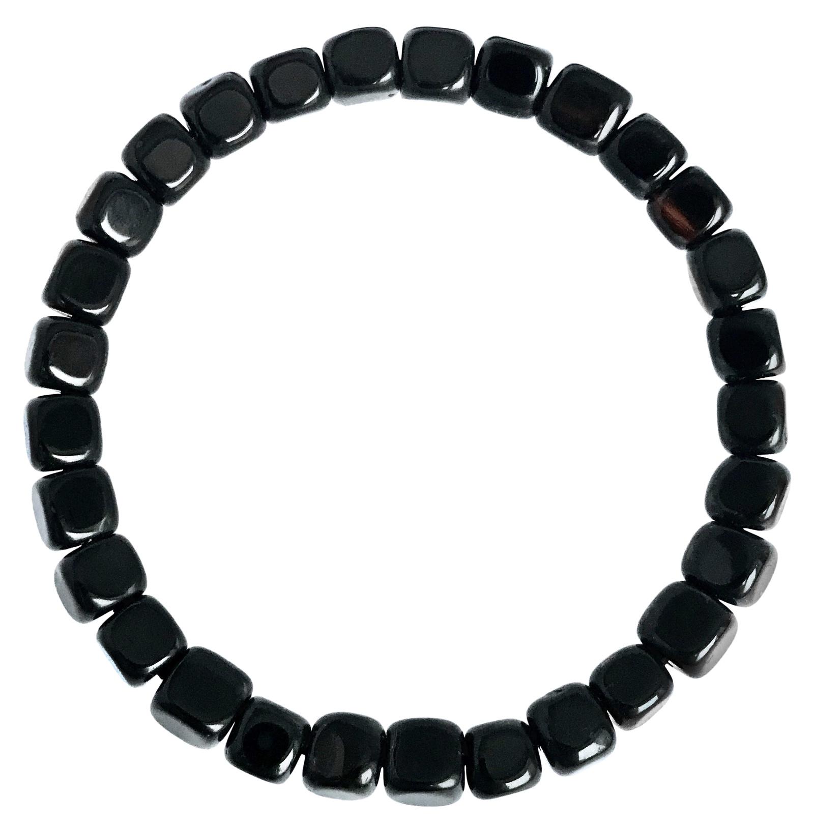 Браслет бижутерный Мастерская Морозова Viking Black Onyx, Натуральный камень, Оникс, 20 см цена