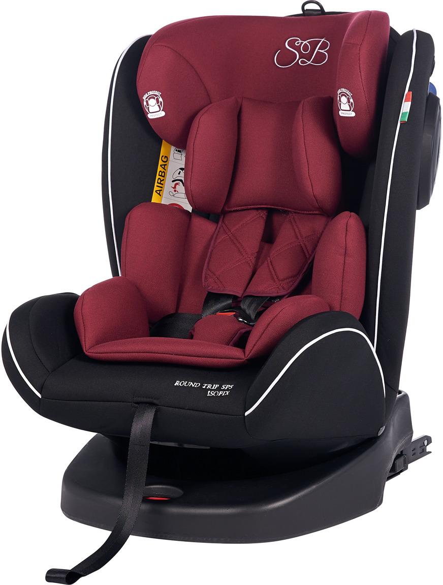 Автокресло Sweet Baby Round Trip SPS Isofix от 0 до 36 кг, 419097, бордовый, черный автокресло sweet baby gran turismo sps isofix red