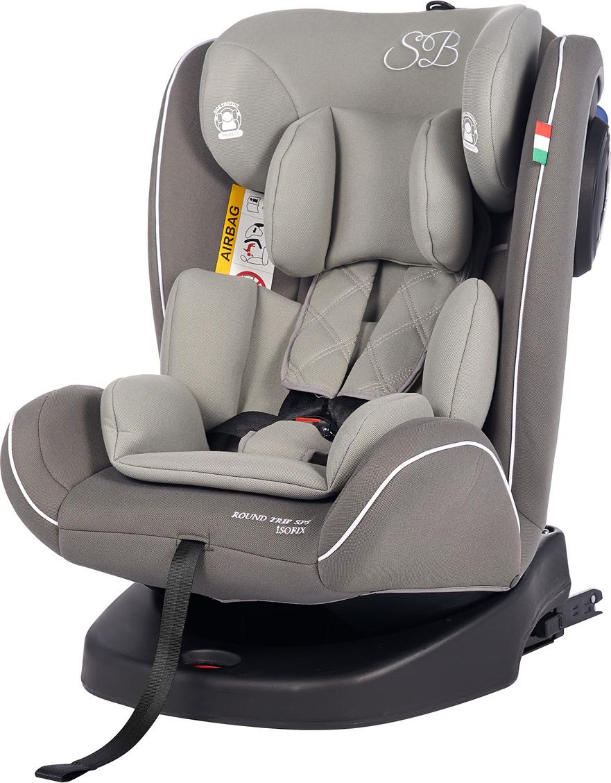 Автокресло Sweet Baby Round Trip SPS Isofix от 0 до 36 кг, 419095, серый автокресло sweet baby gran turismo sps isofix red