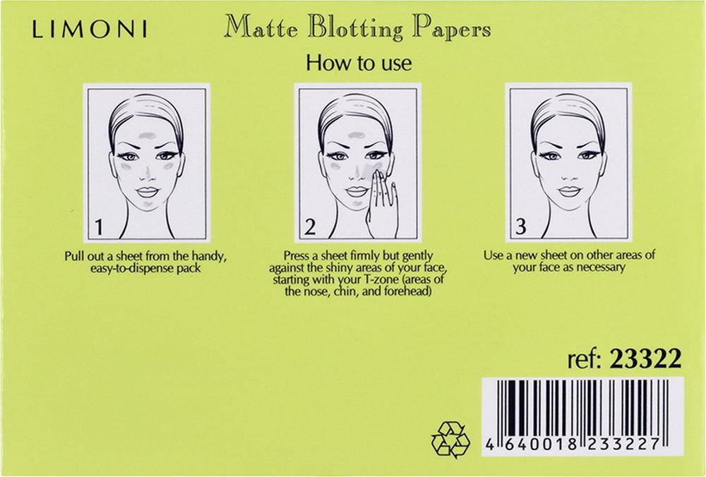 Матирующие салфетки Limoni Matte Blotting Papers, для лица, 80 шт Limoni