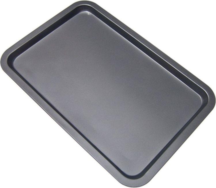Противень Vetta, 846068, 43 х 29 х 1,8 см846068Противень размерами 43х29х1,8 см из углеродистой стали с 2-х слойным антипригарным покрытием серого цвета предназначен для использования в духовых шкафах.