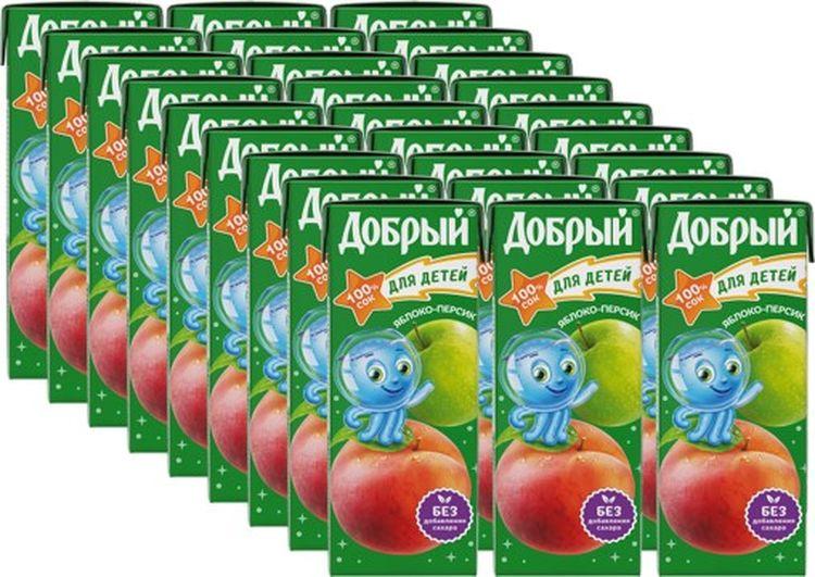 Сок Добрый Яблоко персик, 27 штук по 0,2 л добрый сок яблоко персик 0 2 л