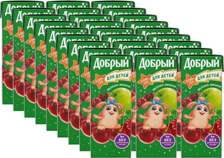 Сок Добрый Яблоко вишня, 27 штук по 0,2 л добрый сок яблоко персик 0 2 л