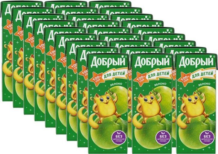 Сок Добрый Яблочный, 27 штук по 0,2 л