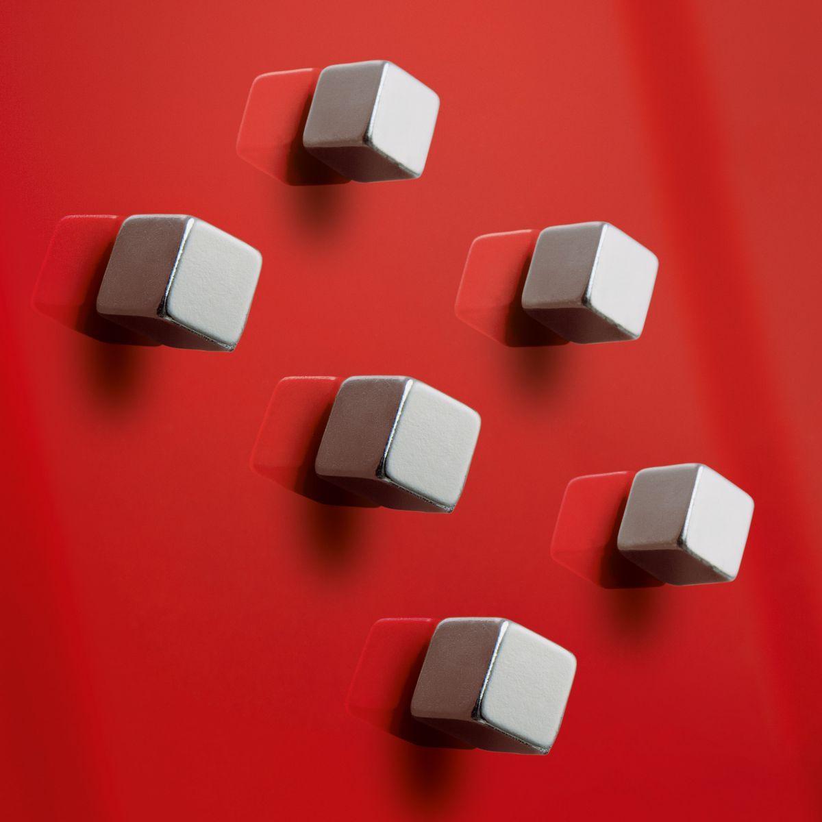 Магнит для досок Sigel Artverum Кубик, 0А-I0001885, серебристый, 6 шт