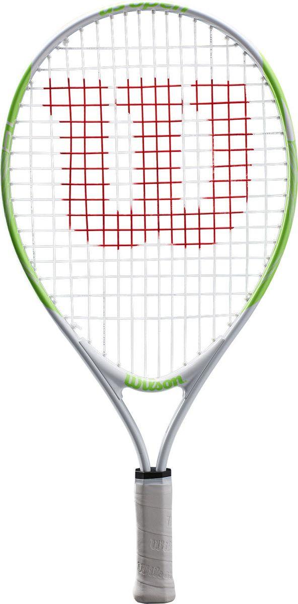 Ракетка для большого тенниса Wilson Us Open 19 Tns Rkt W/O Cvr, WRT20300U, белый, салатовый
