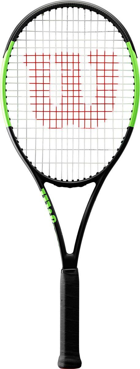 Ракетка для большого тенниса Wilson Blade Team Rkt 1, WR000410U1, черный, зеленый