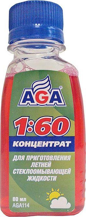 Концентрат для летней стеклоомывающей жидкости AGA, 80 мл концентрат феромонов для мужчин shiatsu 25 мл