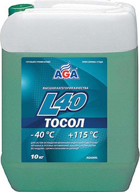 Тосол AGA L40, AGA009L, сине-зеленый, 10 л цены онлайн