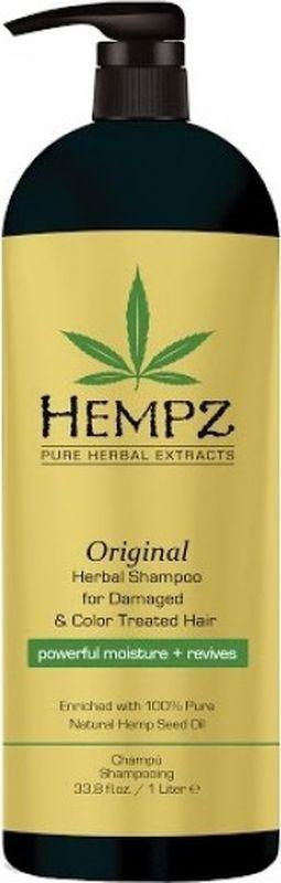 Шампунь для волос Hempz Original Herbal растительный, поврежденных, окрашенных волос, 1 л