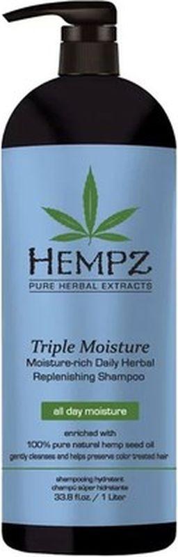 Шампунь для волос Hempz Triple Moisture, 1 л bonacure интенсивное увлажнение шампунь moisture kick 1000 мл