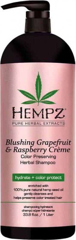 Шампунь для волос Hempz Blushing Grapefruit&Raspberry сохранения цвета и блеска окрашенных волос, 1 л