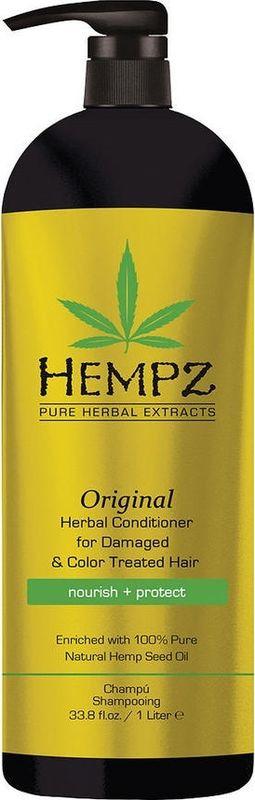 Кондиционер для волос Hempz Original Herbal растительный, поврежденных, окрашенных волос, 1 л
