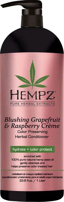 Кондиционер для волос Hempz Blushing Grapefruit&Raspberry для сохранения цвета и блеска окрашенных волос, 1 л хималая хербалс кондиционер защита цвета для окрашенных волос 200мл