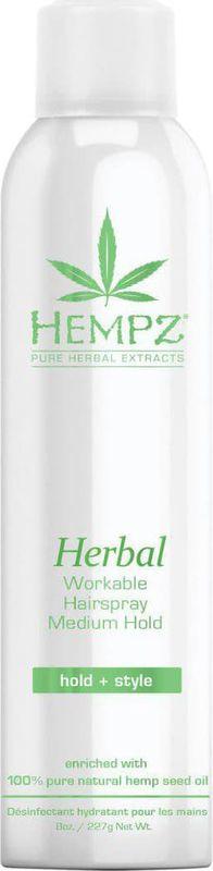 Лак для волос Hempz Herbal Здоровые волосы растительный, средней фиксации, 227 г