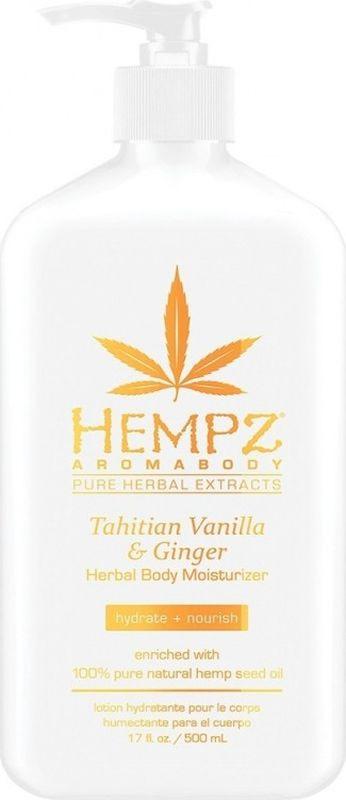 Молочко косметическое Hempz Tahitian Vanilla & Ginger для тела, 500 мл hempz tahitian vanilla ginger herbal body wash гель для душа имбирь и ваниль таити 237 мл