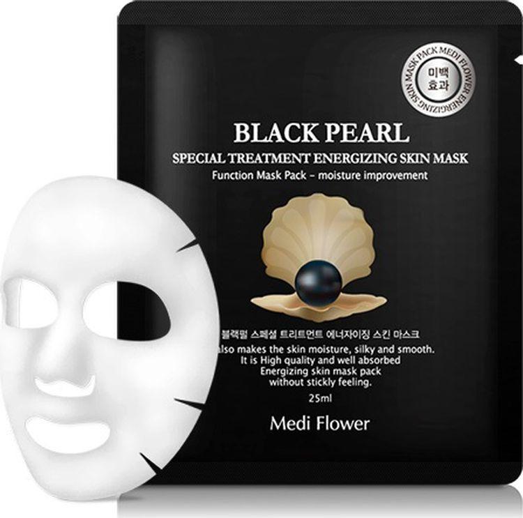 Маска для лица Medi Flower Special Treatment Energizing Mask Pack, с экстрактом черного жемчуга, 25 мл стельки medi igli отзывы