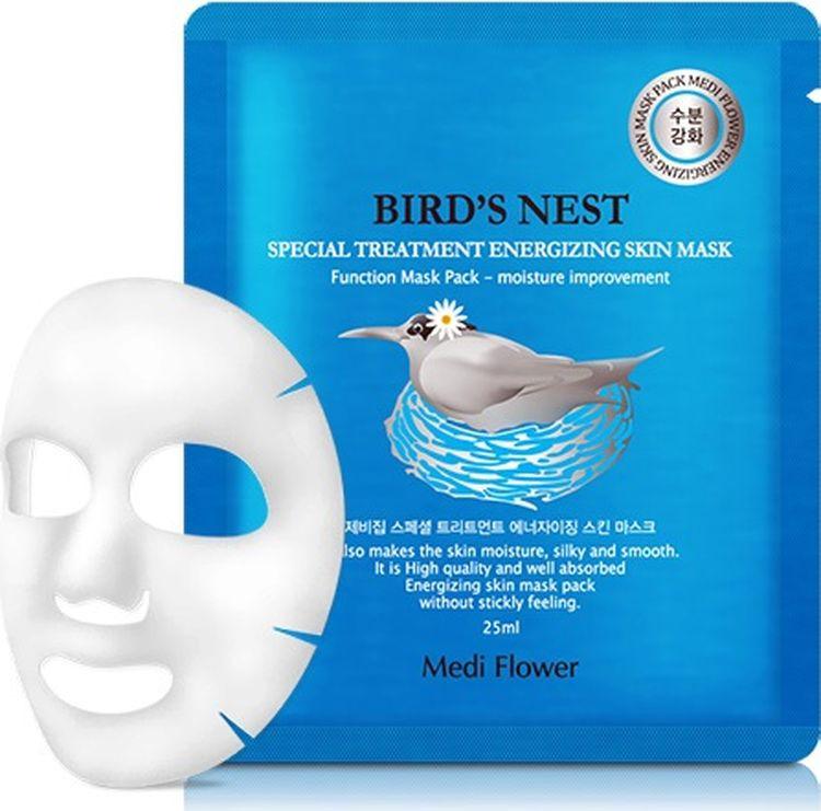 Маска для лица Medi Flower Special Treatment Energizing Mask Pack, с экстрактом ласточкиного гнезда, 25 мл стельки medi igli отзывы