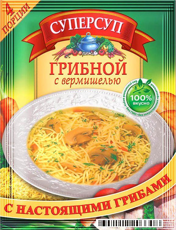 Русский продукт Суперсуп грибной с вермишелью, 70 г