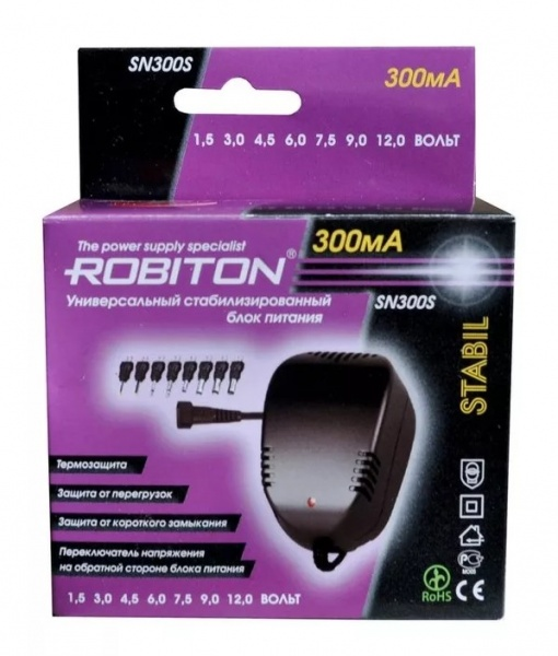 Зарядное устройство Robiton SN300S, SN300S блок питания robiton en3000s