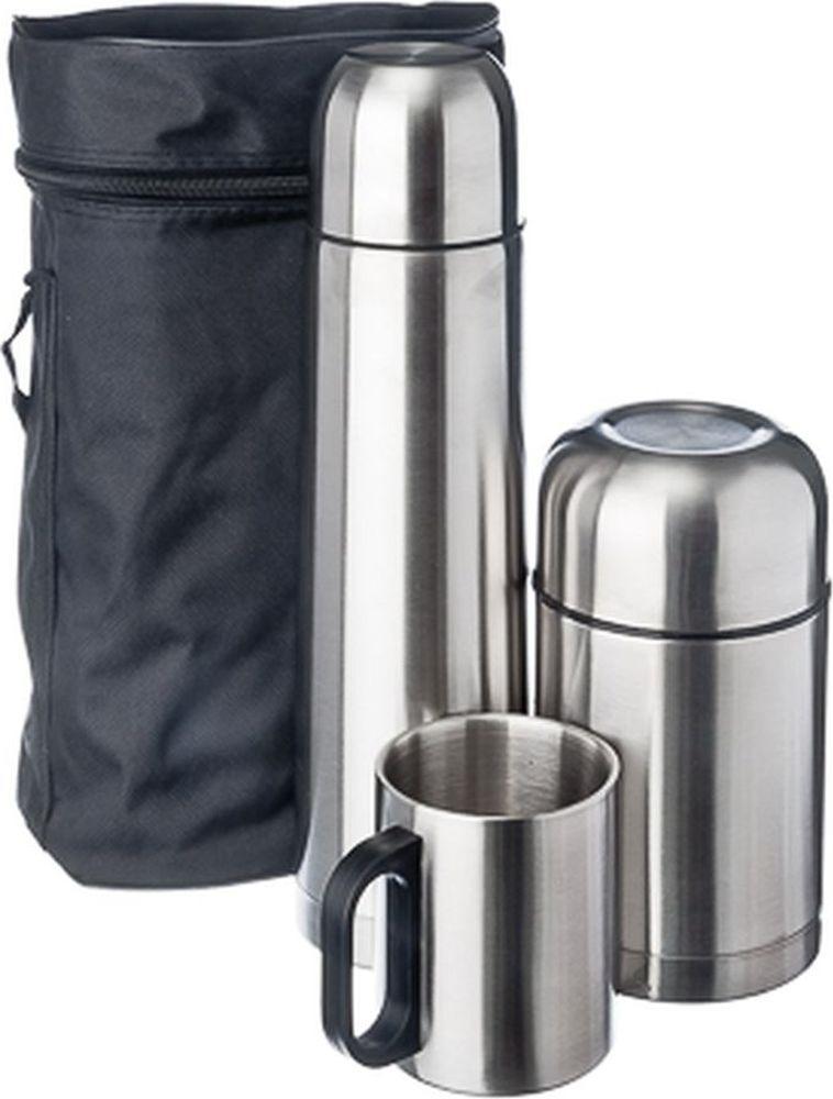 Походный набор Vetta Буллет: термос Буллет, 1 л + термос суповой, 750 мл, + кружка, 300 мл, 841588, 3 предмета цена