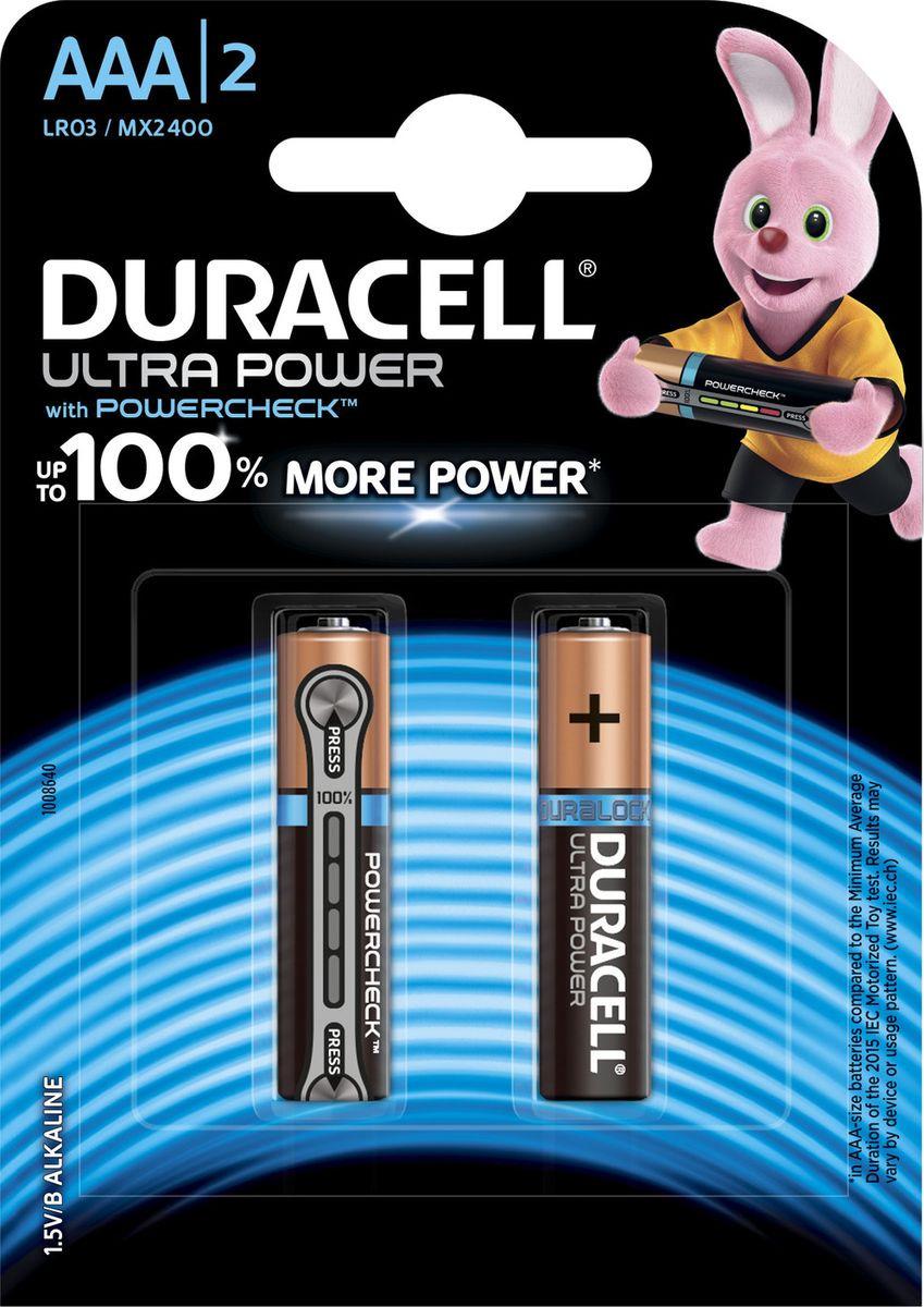 Набор батареек Duracell Ultra Power LR03-2BL, 5004804, 2 шт